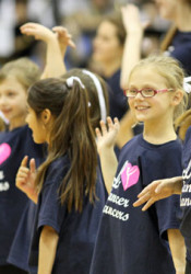 Little Lancer Dancers performing the routine they learned at the annual clinic in 2011.