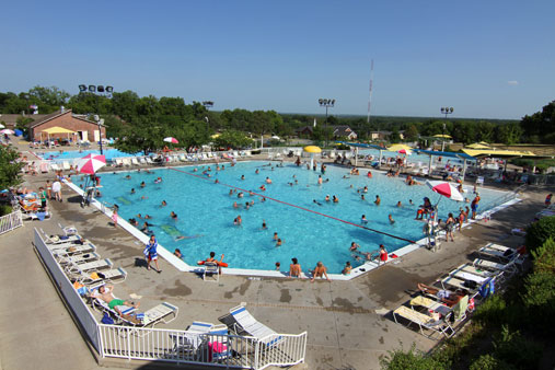 Traffic has been light at the Prairie Village pool this season on account of the weather.
