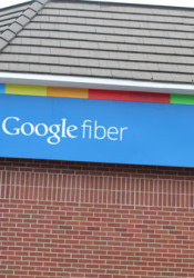 The Google Fiber building in Midtown.