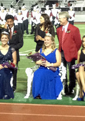 2013 SM North Homecoming Queen Carina White (center) with first attendant Darby Huddleston (left) and second attendant Jocelyn Flores.