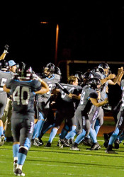 "SM East's football squad and its fans lived their ""go bananas"" chant after their wild last-second victory Friday."
