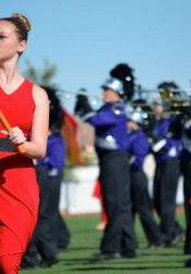 Topeka West was one of the 12 bands competing at SM North Saturday afternoon.
