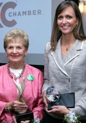 SuEllen Fried and Susan Leonard were honored with the ATHENA Award. Photo by Bruce Mathews.
