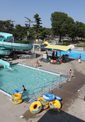 The Prairie Village pool will stay open until 10 p.m. Friday.
