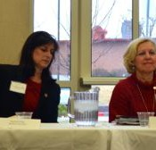 Rep. Stephanie Clayton, Rep. Melissa Rooker, Sen. Pat Pettey and Sen. Kay Wolf at the Chamber breakfast Friday morning.