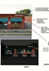 Plans for the new look of the proposed restaurant.