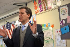 Brownback at Roesland