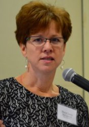 "Mission Mayor Laura McConwell speaking at the ""State of the Cities"" lunch in January."