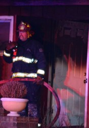 Firefighters worked an early morning fire on Windsor Drive in Prairie Village.