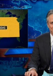 Jon Stewart ladled it out for the Kansas legislature on Thursday's Daily Show.