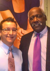 Miller with Richard Roundtree, the star of 'Shaft.'