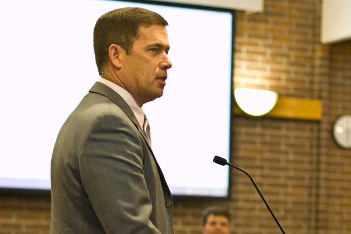 Jim Hinson says his reworked administrative structure will save the district $1.5 million per year. File photo.