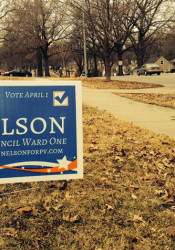 Prairie Village Ward 1 City Council candidate Jori Nelson says dozens of her signs disappeared Saturday night. Police say there are no witnesses at this point for the alleged theft of 150 signs.
