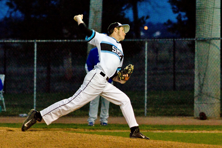 SM East starting pitcher Max Sanborn will play college ball at Pittsburg State University.