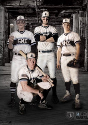 SM East's baseball team will get to debut their home uniforms tonight. Photo by Don Austin via SMEBaseball Twitter account.
