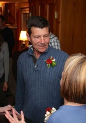 Steve Schowengerdt receives congratulations at his home Tuesday.