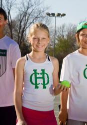 Grant Wiedeman (from left), Greta Stechschulte and Jake Louiselle will all be heading to Tulsa for a special camp for promising young tennis players.