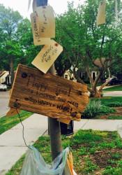 "The ""Happy Tree"" in Prairie Village. Photo via trenklehome.com."