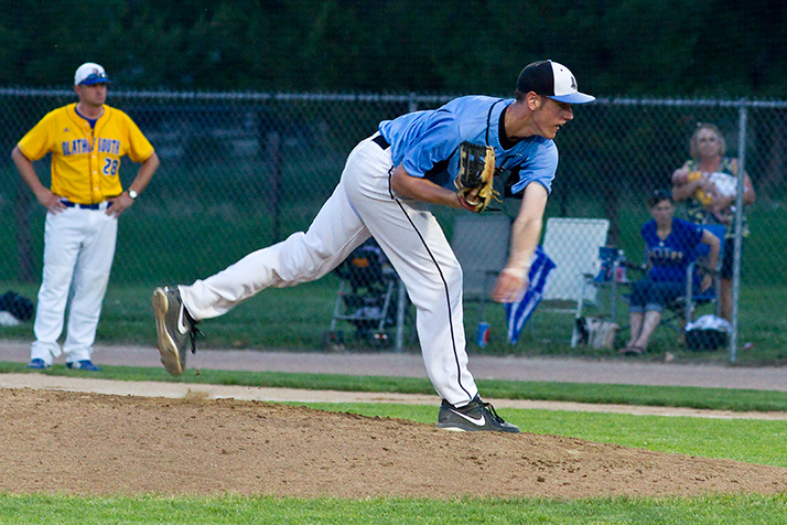 Joey Wentz pitched six shutout innings for the Lancers in their regional final win in 2014.