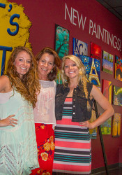 Pinot's Palette staff (from left) Kelly Flowers, Deb Nemec and Britnee Catlin.
