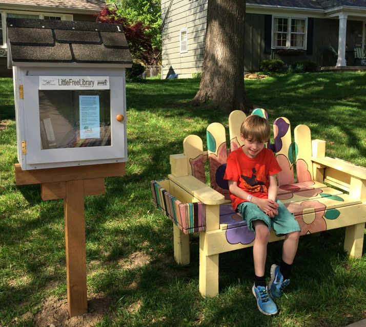This bench, which graced a Little Free Library in Roeland Park, has gone missing over the weekend.