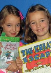 2013 Corinth Neighborhood Library grand prize winners Tessa and Nora Herring