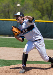 Trey Austin, who sported a pretty awesome moustache, pitched five and a third scoreless innings for the Lancers and went three for three at the plate.
