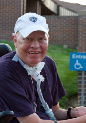 Finn Bullers outside Prairie Village city hall in 2014.