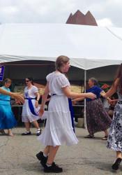 The Tikvah Dancers performing at Sunday's KosherFest.