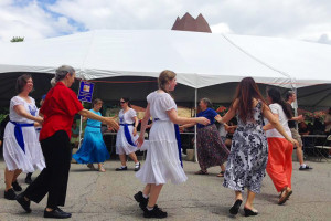 The Tikvah Dancers performing at Sunday's KosherFest.