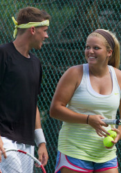 Locals Ross Guignon and Olivia Sneed lost in the mixed doubles semi-finals.
