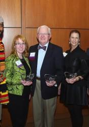 2013 Pinnacle Award winners (left to right): Shane Evans, Emily Behrmann, Dr. Harold Frye, Kim Bowen Harbur and Larry Louk