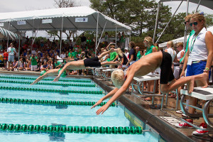 The Country Club Swim Association of Kansas City swim championships start today at Country Club of Leawood. (2014 competition at Milburn Country Club pictured above).