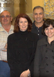Luigino Molon (second from left) and his daughter Chiara (left) with the Vianello family, Michelle, Marc, Jennifier and Dan at the Molon winery in 2011.
