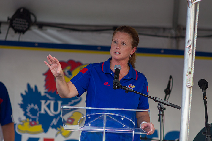 Bonnie Henrickson stole the show with her imitation of KU men's basketball coach Bill Self.