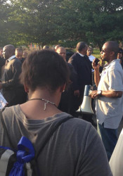 Aaron Roberts' photo of Damon Daniel organizing a rally in Ferguson.