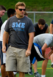 Head football coach Dustin Delaney and his Lancers will kick off the 2014 season Sept. 5 against Gardner-Edgerton.