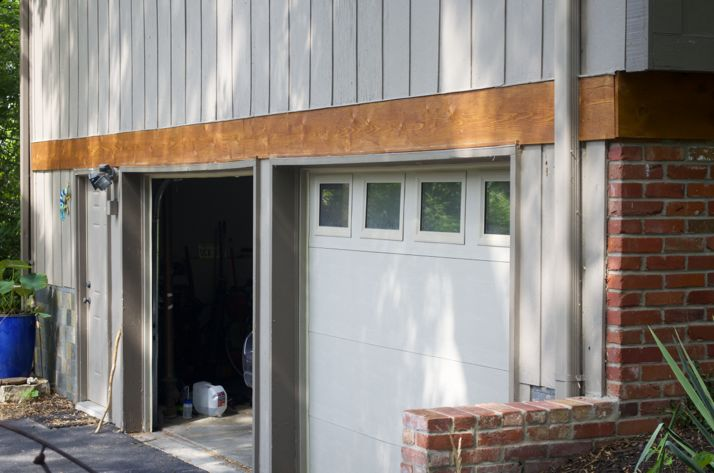 The open garage door is a wide-open invitation for burglars to make themselves at home.