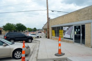Sidewalks and parking already have been restored to one side of Johnson Drive.