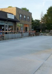 New parking areas were poured this week along Johnson Drive's north side.