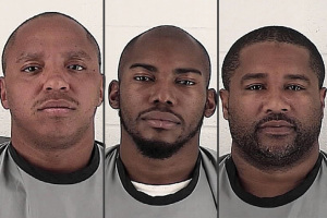 Suspects, from left, McKissick, Simms and Lucas face burglary charges.