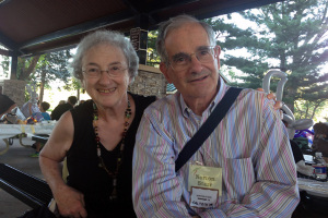 Irene and Norton Starr met at the All-Ivy picnic in 1957. Last year, they returned to the event for the first time.
