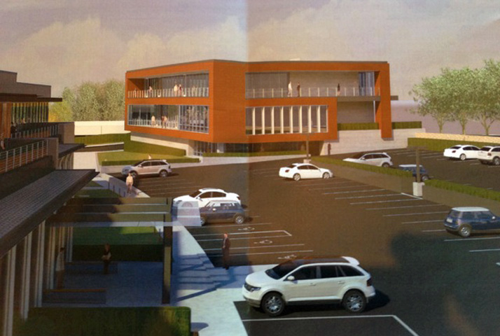 A rendering of the proposed changes to the building.