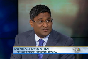 Ramesh Ponnuru was one of two SM East alumni to appear on NBC's Meet the Press Sunday.