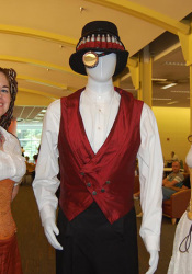 Steampunk aficionados gathered at Johnson County Library's June Second Saturday e