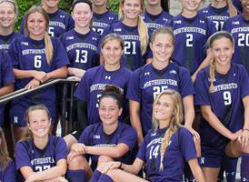 Addie Steiner, #21, has become a standout offensive player for Northwestern.