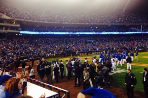 Kauffman Stadium was jam packed and jumping for the American League Championship Series games.