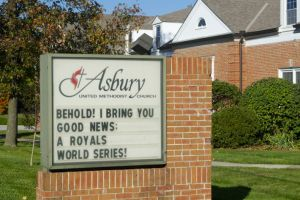 Asbury United Methodist has added another Royals twist to its verse.