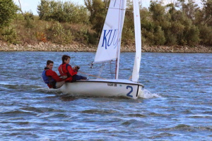 Robert Duff and Kevin Krugh won the inaugural Kansas High School Sailing Championship.