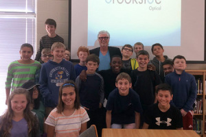 Leon Butler of Brookside Optical was one of the entrepreneurs to talk to students as a part of the first ever Entrepreneurship Day at Indian Hills.